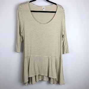 Peruvian Connection Windswept T-Shirt Knit Top L